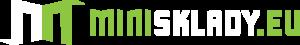 Logo minisklady.eu pro tmavé pozadí